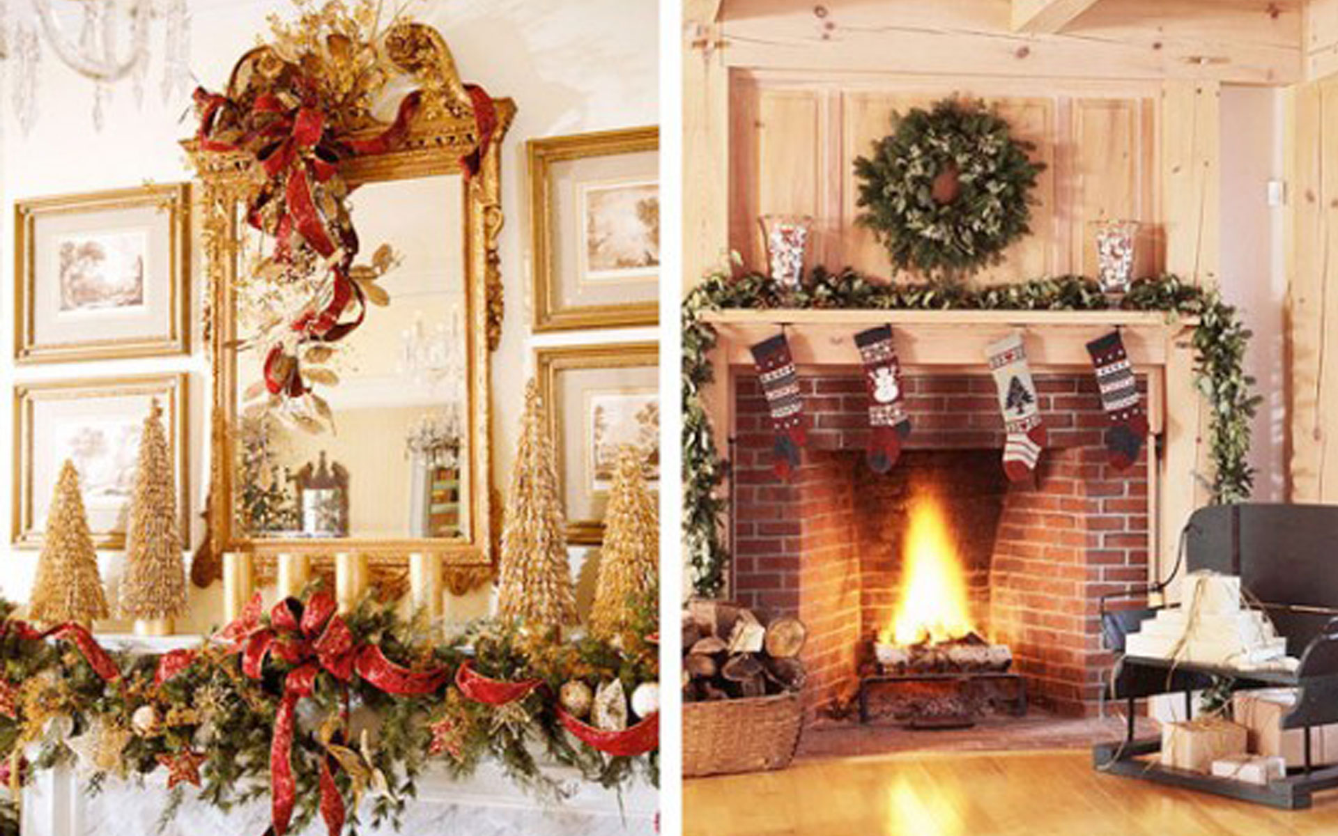 Superb Beautiful Ideas For Christmas Fireplaces Decor. «