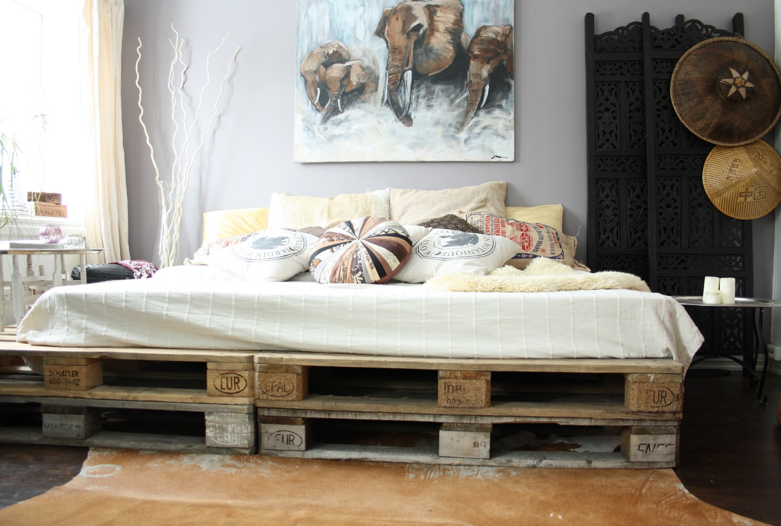 how to make a pallet bed head