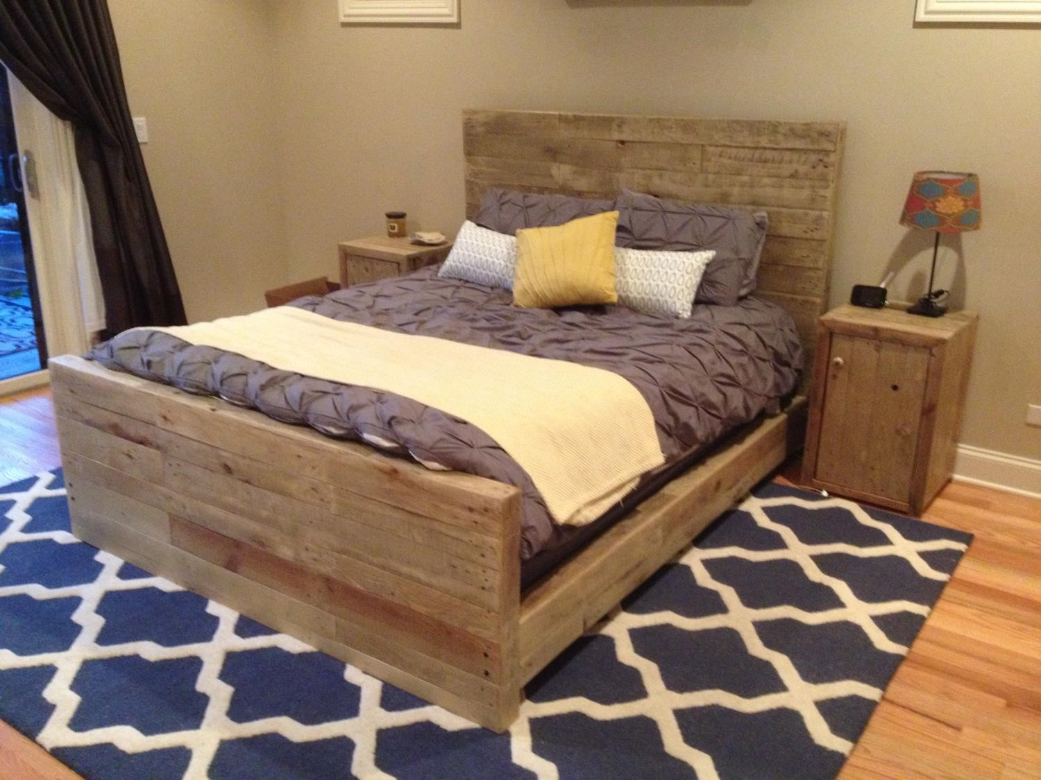 diy queen pallet bed frame